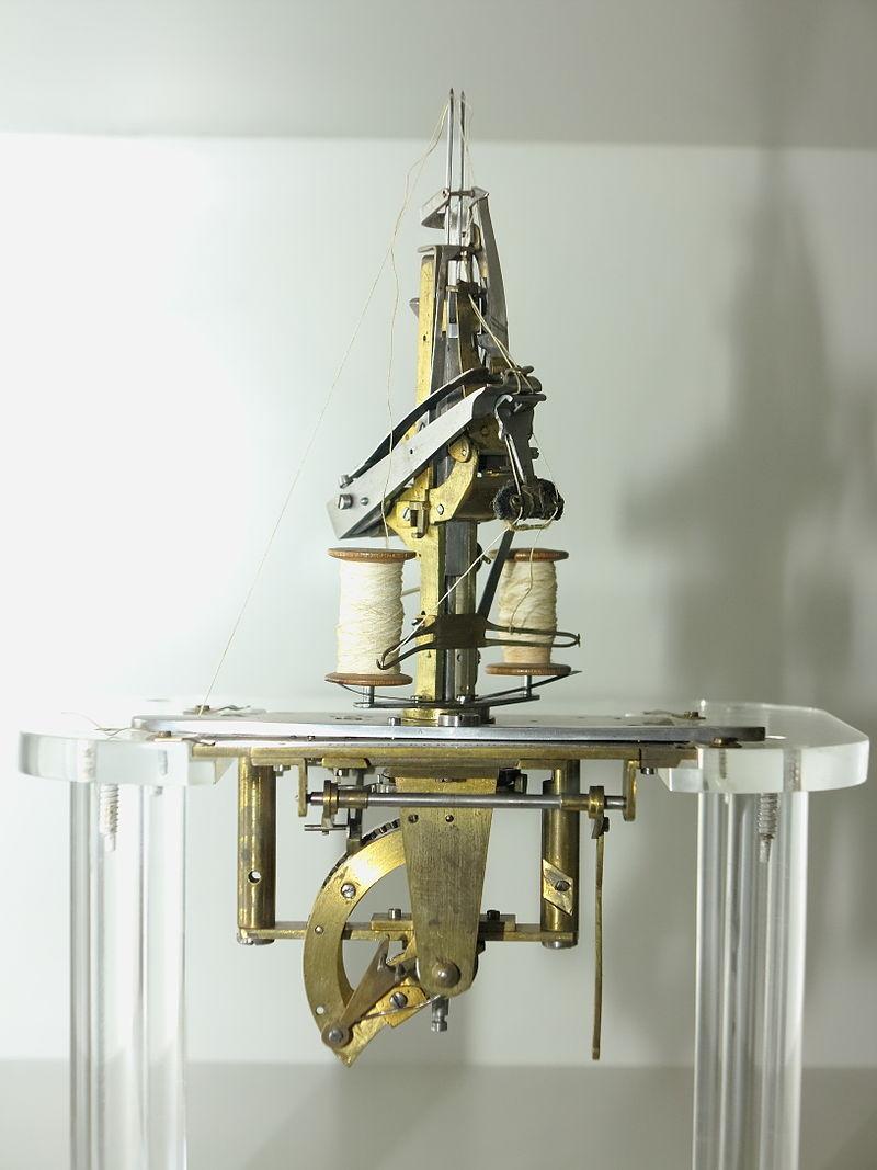 """Mano de costura"", ""Nähhand"", Josef Madersperger, 1830, Museo Técnico de Viena"