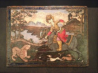 Courtier Hunting a Lion