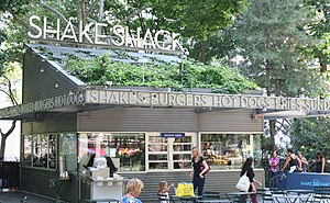 The Shake Shack in Madison Square Park, Manhat...