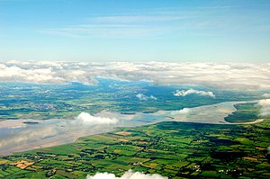 Dalcassians - Aerial view of the River Shannon, the area where the Dál gCais grew in power.