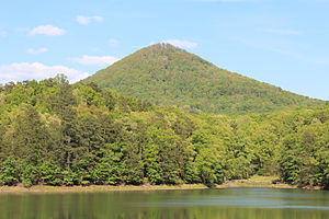 Pickens County, Georgia - Sharp Top Mountain, viewed from Grandview Lake Dam