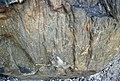Shatterconed sandstone (Mississagi Formation, Paleoproterozoic, ~2.3-2.4 Ga; Ramsey Lake Road outcrop, Sudbury, Ontario, Canada) 10 (40800890203).jpg