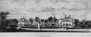 Tavern on the Green - Original sheepfold and barn, 1899