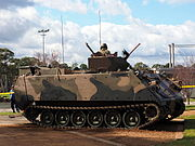 Side view of a M113AS4 at the 2015 ADFA open day