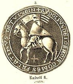 Rudolph II, Count Palatine of Tübingen - Rudolph II of Tübingen