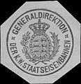 Siegelmarke Generaldirektion der K.W. Staatseisenbahnen W0390818.jpg