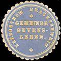 Siegelmarke H. Braunschweig Gemeinde Gevensleben W0380681.jpg