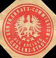Siegelmarke Königlich Preussische Ersatz - Commission des Kreises Coblenz - Stadt W0215042.jpg