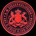 Siegelmarke Königlich Württembergisches Steuerkollegium - Abteilung für Zölle und Industrie - Steuern W0233955.jpg