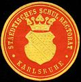 Siegelmarke Staedtisches Schul Rectorat - Karlsruhe W0232770.jpg