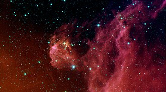 Orion (constellation) - Star formation in the constellation Orion as photographed in infrared by NASA's Spitzer Space Telescope