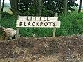 Sign at Little Blackpots - geograph.org.uk - 470227.jpg