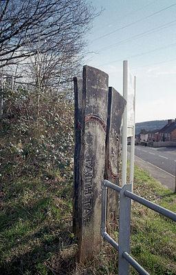 Sign on the Taff Trail in Rhydyfelin