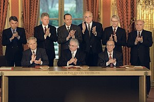 Dayton Agreement - Signing of the full and formal agreement in Paris.