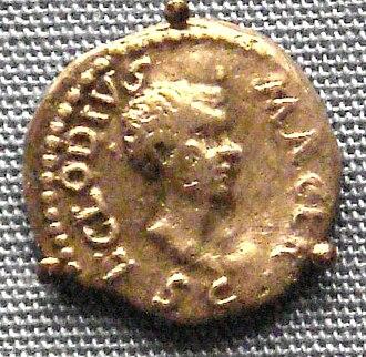 Lucius Clodius Macer - Silver denarius of Clodius Macer, 68 AD. British Museum.