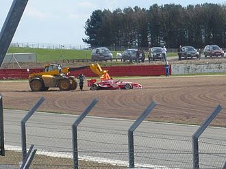 2010 Superleague Formula season - PSV Eindhoven (Narain Karthikeyan) car retrieved mid-race after spinning into the gravel at Superleague Formula Round 1