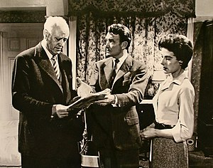 Alastair Sim - With John Mills and Yvonne Mitchell in the comedy-thriller Escapade, 1955