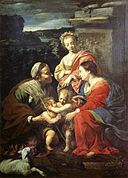 Simon Vouet - The Holy Family with Sts Elizabeth, John the Baptist and Catherine - WGA25346.jpg