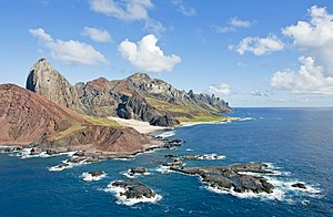 Trindade and Martin Vaz - Rocky cliffs of Trindade Island