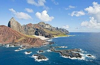 Trindade and Martin Vaz - Rocky cliffs of Trindade Island