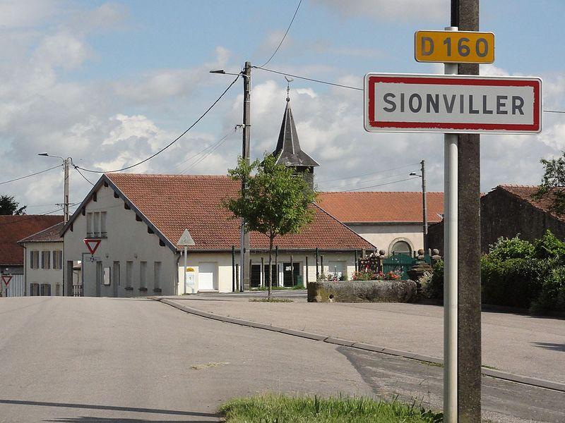 Sionviller (M-et-M) city limit sign
