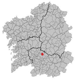 Coles, Ourense - Image: Situacion Coles