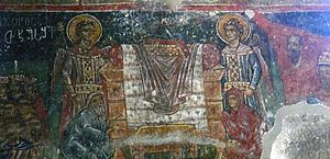 Skhalta Cathedral - A fresco from Skhalta