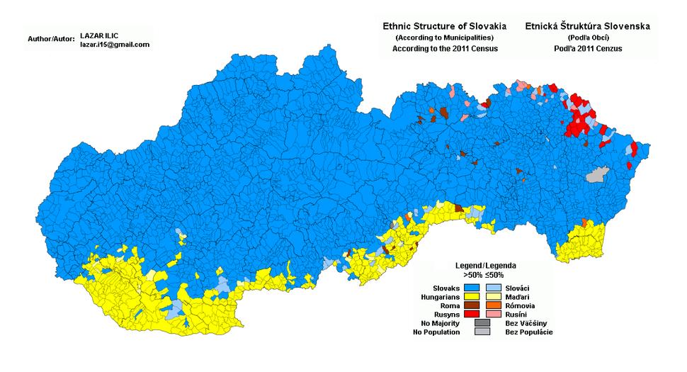 Slovakia 2011 Ethnic