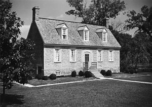 Smith's Fort Plantation - Front Elevation of 1751 Main House (photo by United States Department of the Interior)
