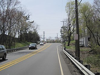 Smithburg, New Jersey - Southbound on CR 527 approaching the CR 537/524 intersection