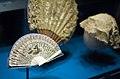 Smithsonian National Museum of American History - Ivory fan said to have belonged to Abigail Adams, Caroline Harrison's hand-painted crepe fan, Lucretia Garfield's lace cap (3424644507).jpg