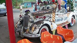 Delgadillo's Snow Cap Drive-In - Juan Delgadillo's 1936 Chevrolet, on permanent display in front of the restaurant