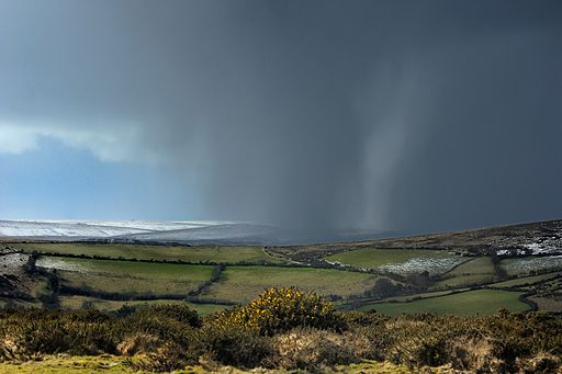 Snow shower on Dartmoor