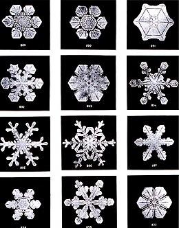 La formazione di complessi simmetrici e frattali nei cristalli di neve esemplifica il comportamento emergente in un sistema fisico