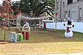 Snowman and presents, Valdosta Courthouse Square, Christmas 2019.jpg