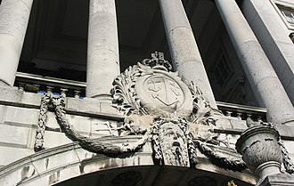 Navy Board - Badge of the Navy Board on Somerset House (the Board's headquarters 1789-1832)