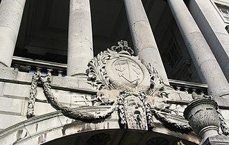 Navy Board - Image: Somerset House marine heraldry