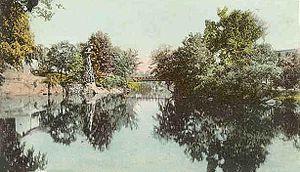 Souhegan River - Souhegan River in 1906, Milford, New Hampshire