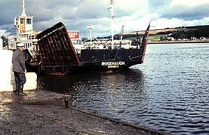 Kessock Ferry - The Rosehaugh at South Kessock, 1971