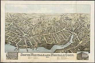 South Norwalk - Map of South Norwalk and Norwalk, CT