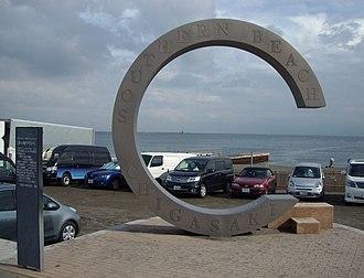 "Chigasaki, Kanagawa - Southern Beach monument known as ""Southern C"""