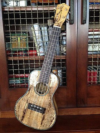 Spalting - Heavily spalted mango wood is often used in the construction of ukuleles.