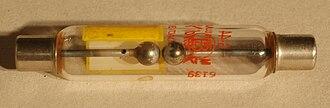 Spark gap - Spark gap tube