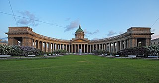 Nevsky Prospect thoroughfare in Saint Petersburg, Russia