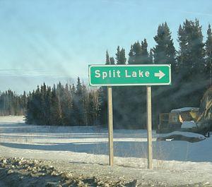 Split Lake (Manitoba) - Split Lake Roadsign