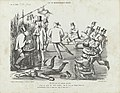 Spotprent op ministeriële crisis, 1862 Uit de ministeriële crisis (titel op object), RP-P-OB-89.376.jpg