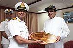 Sri Lankan President Maitripala Sirisena visits INS Vikramaditya at Colombo (02).jpg