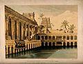 Srirangam, Madras, India; water tank in the Temple. Coloured Wellcome V0014480.jpg