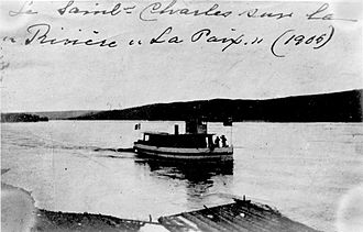 St. Charles (ship) - Image: St. Charles an early steamship on the upper Peace River