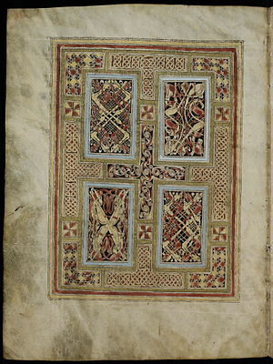 St. Gall Gospel Book - Image: St. Gall Gospels Cod.Sang.51 p.6 Carpet page